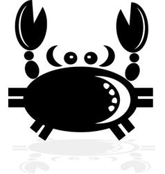 Black Cancer Zodiac vector image