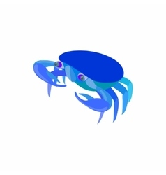 Blue crab icon cartoon style vector image