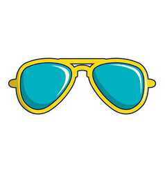 Blue sunglasses icon cartoon style vector