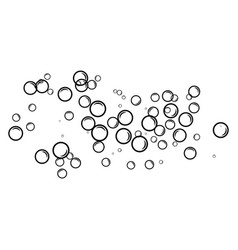 bubble water vector image