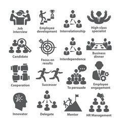 business management icons pack 33 vector image