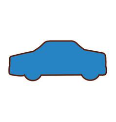 Car sedan silhouette icon vector