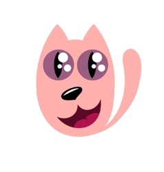 Cartoon cat stylized funny monster vector image