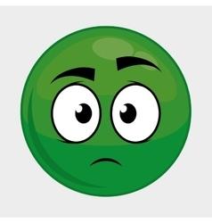 Cartoon face icon Expression design vector image