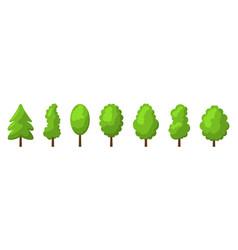 cartoon summer tree set vector image