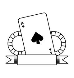 casino bet cards and chips vector image