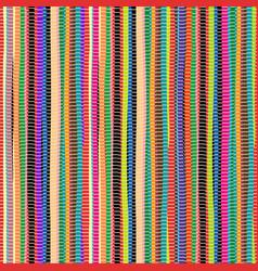 Colored handmade rag rug carpet vector