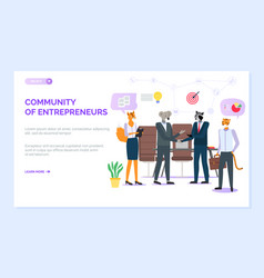 community entrepreneurs website hipster animal vector image