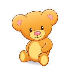Cute cuddly teddy bear vector