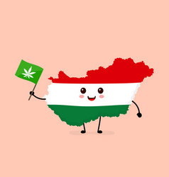 cute funny smiling happy hungary vector image