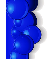 Dark blue glossy spheres portrait vector