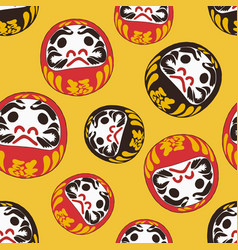Daruma doll is a talisman for japanese sketch vector