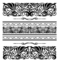 Decorative ornaments and patterns vector image