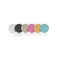 Different colors round pills on white background vector