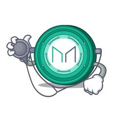 Doctor maker coin character cartoon vector