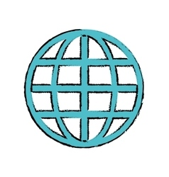 Drawing global connection security system vector