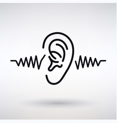 Ear listens icon vector