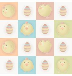 Easter baby chicks vector image