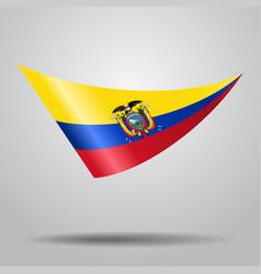 Ecuadorian flag background vector