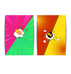 fight bubble comics styl vector image