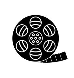 filmstrip roll glyph icon vector image