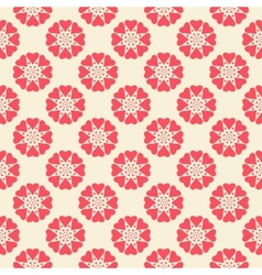 Floral seamless pattern Red and white shabby vector image