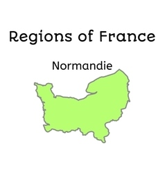 France administrative map of Normandy vector