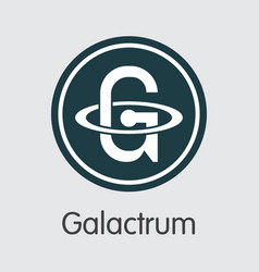 galactrum - blockchain cryptocurrency icon vector image