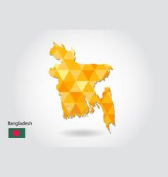 Geometric polygonal style map of bangladesh low vector