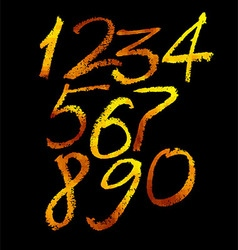 Gold numbers set vector