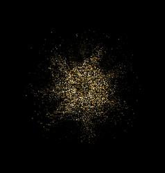 Golden glitter explosion bright dust splash gold vector