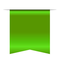 green bookmark banner 3d vertical book mark vector image