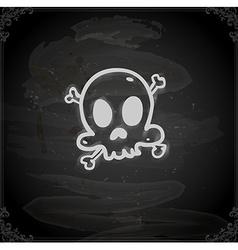 Hand Drawn Skull and Bones vector image