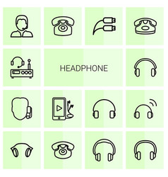 headphone icons vector image