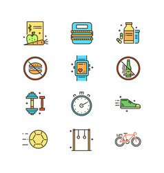 Healthy lifestyle topic vector
