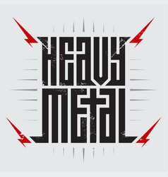 Heavy metal - brutal font for labels headlines vector