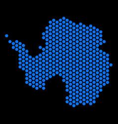 Hexagon antarctica map vector