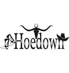 hoedown banner vector image