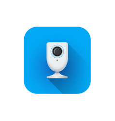 Home surveillance web camera vector