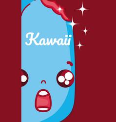 Ice cream kawaii cute cartoon vector
