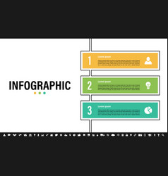 Infographic design template with business concept vector