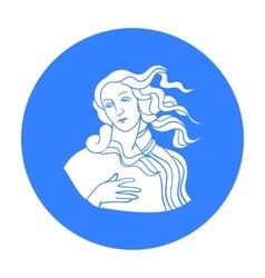 Italian goddess of love icon in black style vector