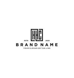 Letter hhc square logo design vector