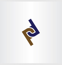 logo letter p and d icon logotype element vector image
