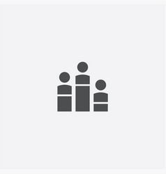 man diagram icon vector image