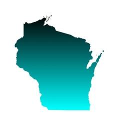 Map of Wisconsin vector