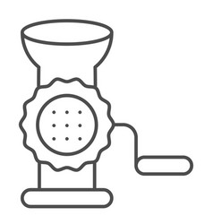 Meat grinder thin line icon hand grinder vector