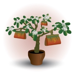 Money plant flower in pot vector