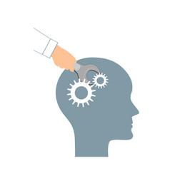 Nlp or neuro-linguistic programming concept open vector