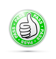 Pass thumbs up icon vector